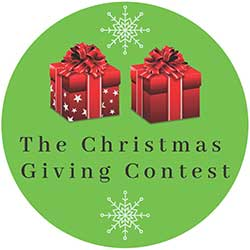 Christmas giving contest button